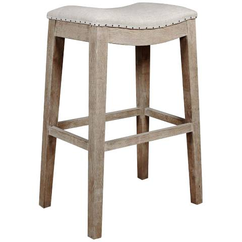 harper 31 stone wash saddle seat bar stool 3x808 lamps plus. Black Bedroom Furniture Sets. Home Design Ideas