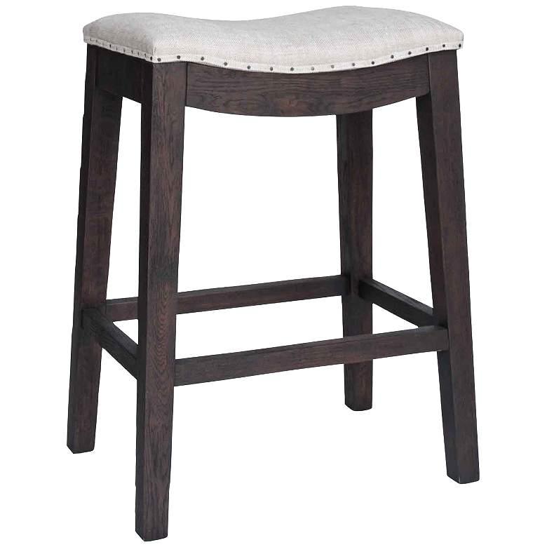 Harper 27 Rustic Java Saddle Seat Counter Stool