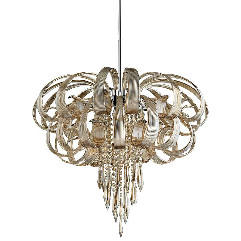 "Cindy Lou 27"" Wide Cognac Chandelier"