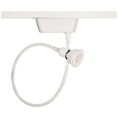 WAC 204 L LED White Gooseneck Track Head for Lightolier