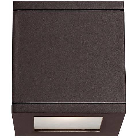 "WAC Rubix 5"" High Bronze LED Up - Downlight"