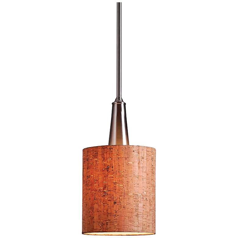 "Bulletin 8"" Wide Natural Cork Mini Pendant"