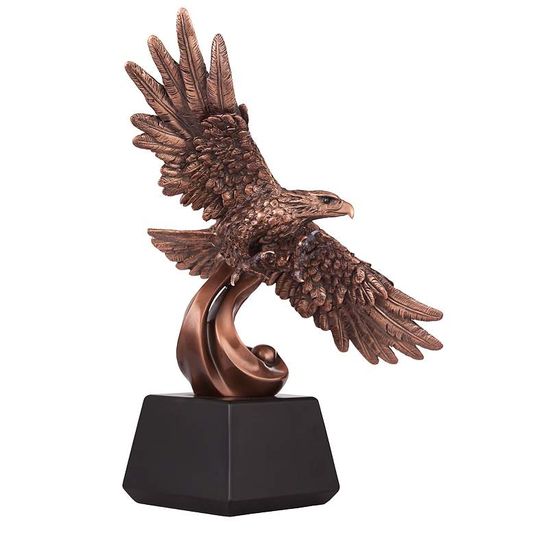 "Soaring American Eagle 12 1/2"" High Table Sculpture"
