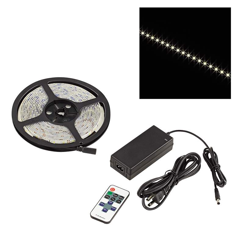 Water-Resistant Indoor Warm White LED Tape Light Kit