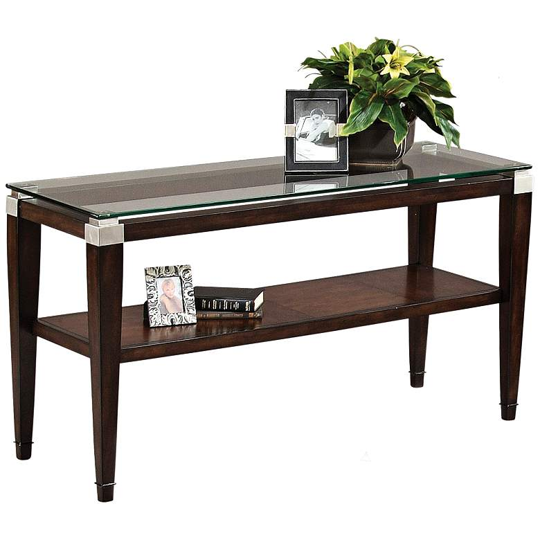 "Dunhill 54"" Wide Lido Walnut Console Table"