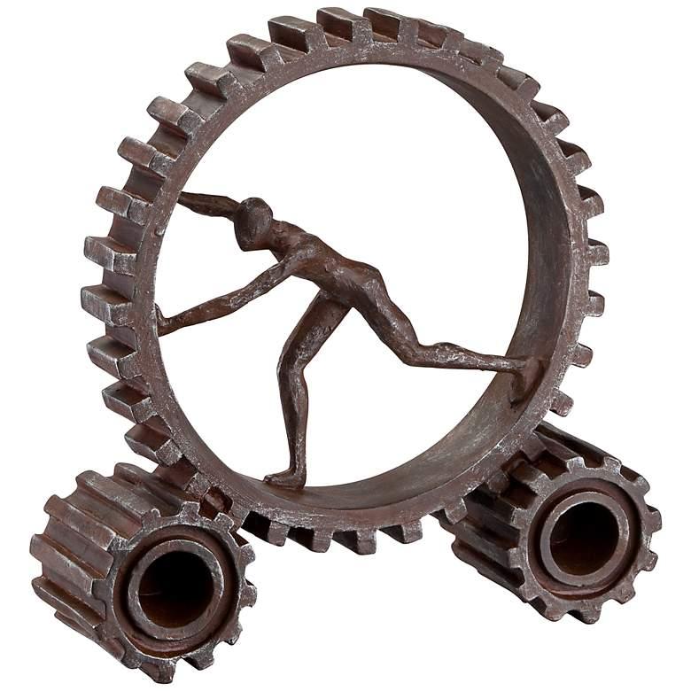 """Man Running in Gear 10 1/4"""" High Sculpture"""