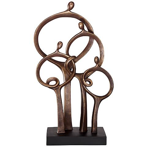 "Abstract Family 19 1/4"" High Bronze Sculpture"