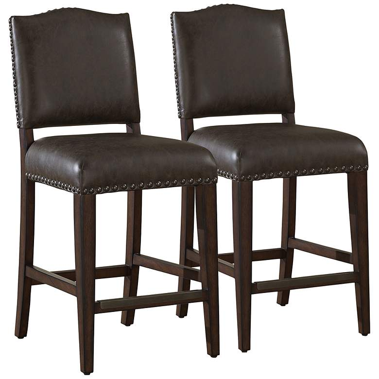 Brilliant American Heritage Set Of 2 Worthington 34 Tall Bar Stools Unemploymentrelief Wooden Chair Designs For Living Room Unemploymentrelieforg