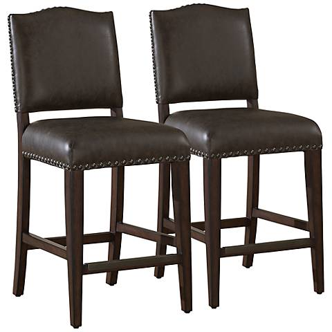 "American Heritage Set of 2 Worthington 34"" Tall Bar Stools"