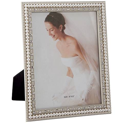 Daphne White Pearl 8x10 Picture Frame - #3Y751 | Lamps Plus