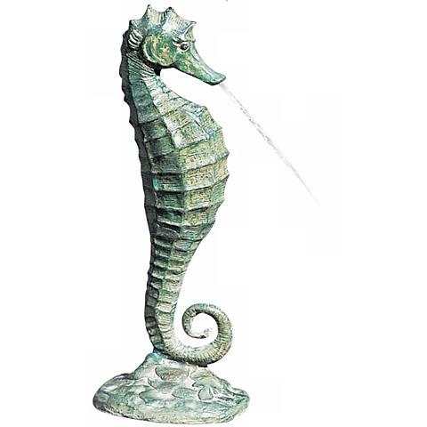 """Medium Sea Horse 19"""" High Fountain"""