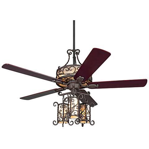 "60"" John Timberland® Seville Iron Ceiling Fan W/ Remote"