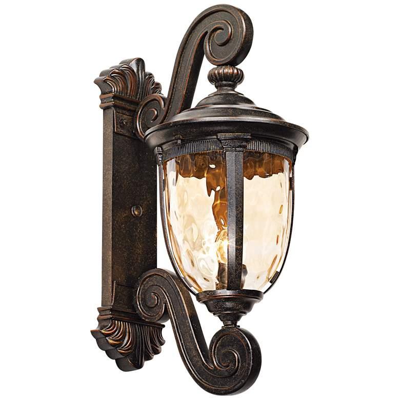 "Bellagio 24"" High Bronze Dual Scroll Arm Outdoor Wall Light"