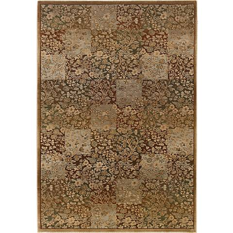 Organic Patchwork Area Rug