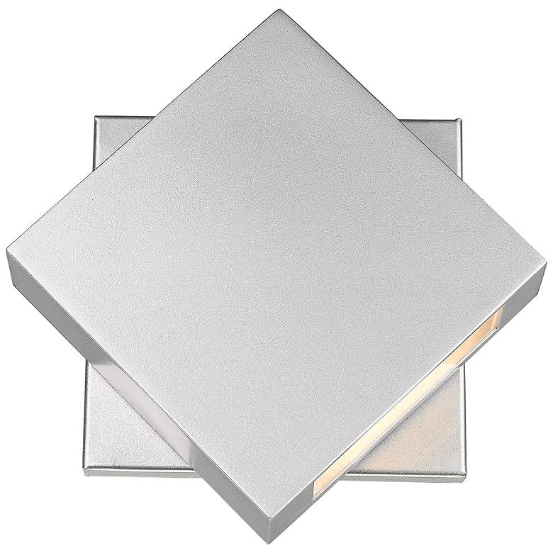 """Quadrate 9 1/4"""" High Silver LED Outdoor Wall Light"""