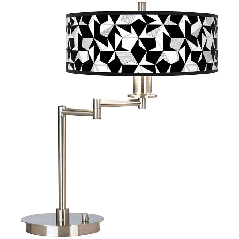 Triathlon Giclee CFL Swing Arm Desk Lamp
