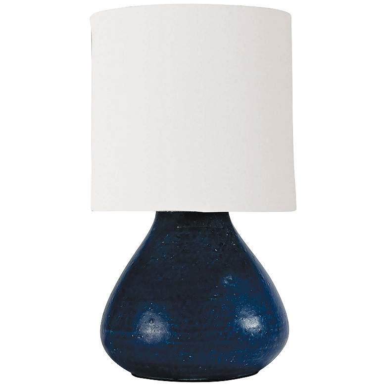 "Mercury 10 1/2"" High Blue Accent Night Light Table Lamp"