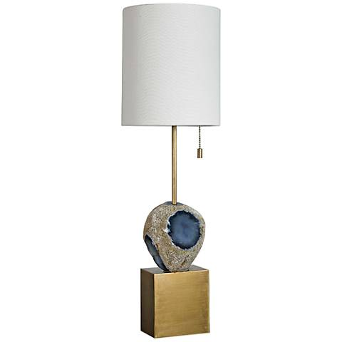 Rock Candy Brass and Natural Agate Table Lamp