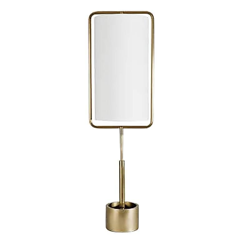 Regina Andrew Geo Rectangle Natural Brass Table Lamp