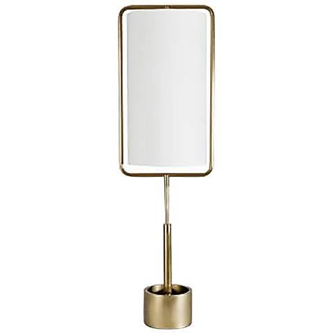 Regina Andrew Design Geo Rectangle Natural Brass Table Lamp