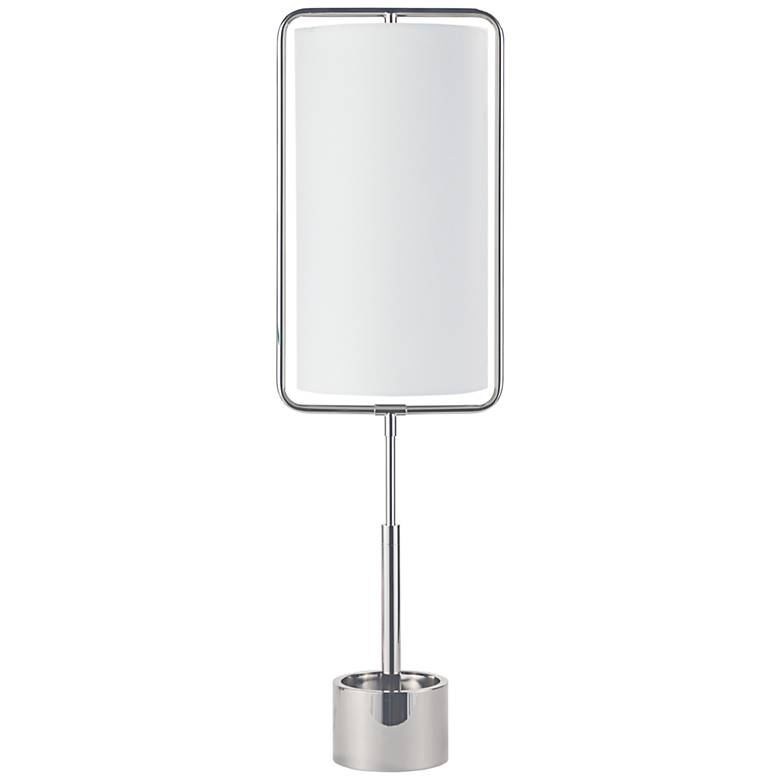 Geo Rectangle Polished Nickel Table Lamp