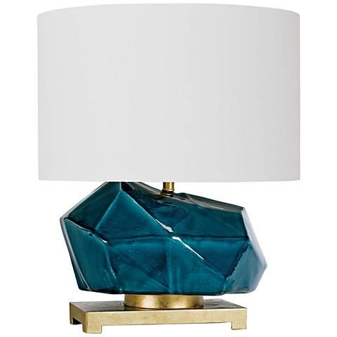 Regina Andrew Design Peacock Blue Ceramic Accent Table Lamp