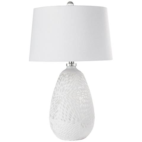 Regina Andrew Design Chrysanthemum White Glass Table Lamp
