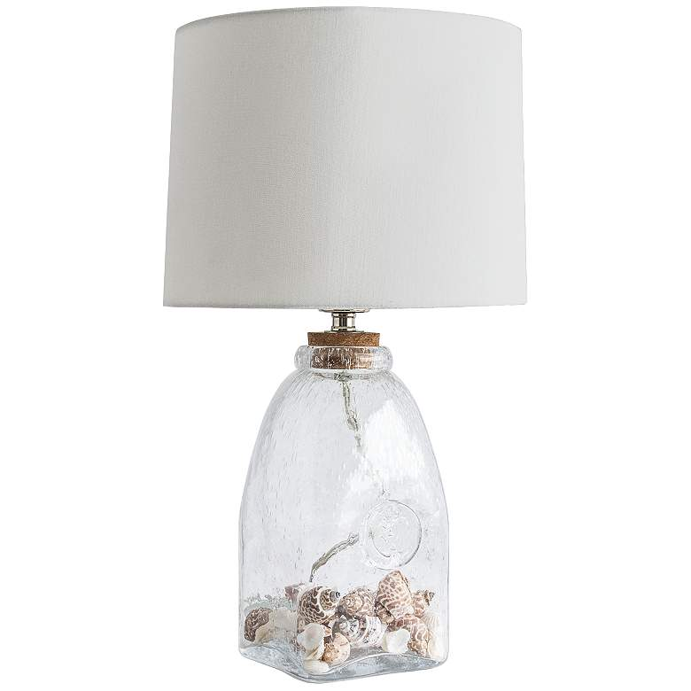 Signature Keepsake Clear Glass Accent Table Lamp