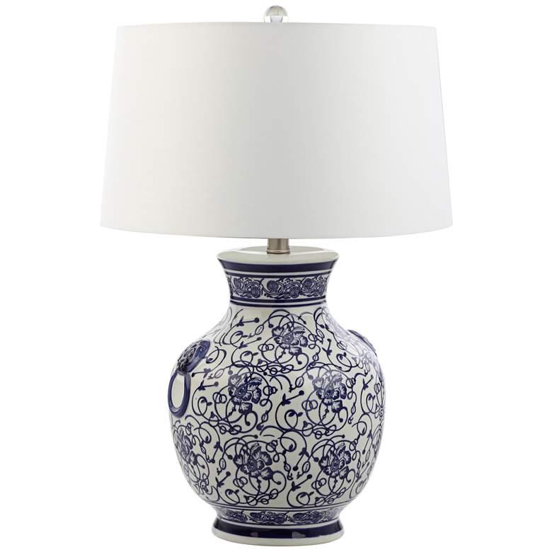 Orren Blue and White Ceramic Table Lamp