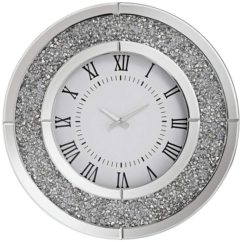 """Lucy 19 3/4"""" Wide Jeweled Wall Clock"""