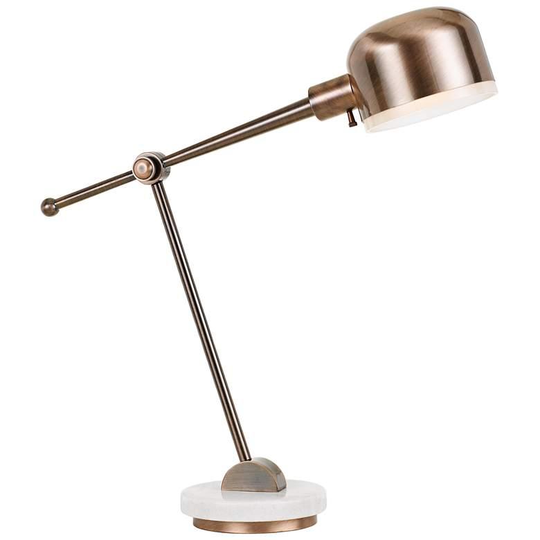 Allendale Copper Metal Adjustable Desk Lamp