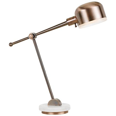 Allendale Copper Metal Adjustable Desk Lamp