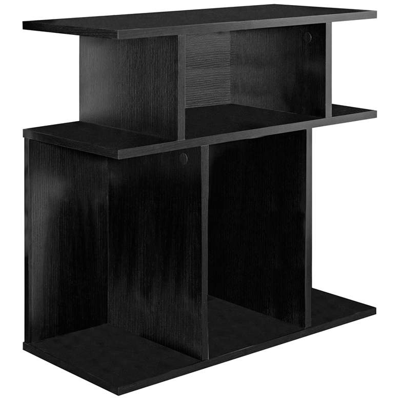 """Cubic 23 3/4"""" Wide Black 3-Tier Modern Accent Table"""