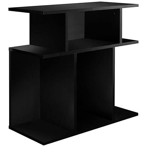 Cubic Black 3-Tier Accent Table