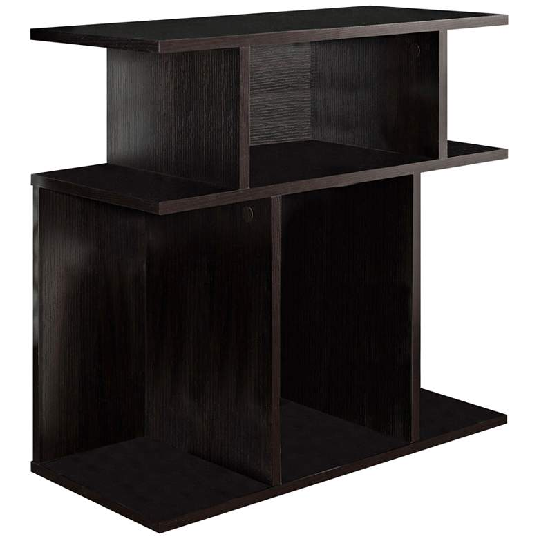 "Cubic 23 3/4"" Wide Cappuccino 3-Tier Modern Accent Table"