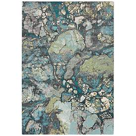 Surya Aberdine Teal Blue And Gray Area Rug
