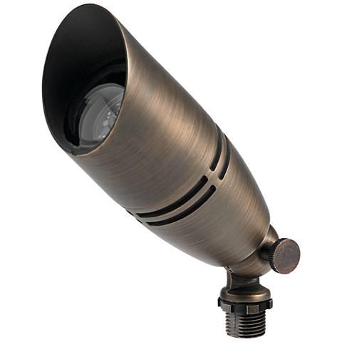 """Boxer 3"""" High Brass Outdoor Spot Light w/ Adjustable Cowl"""