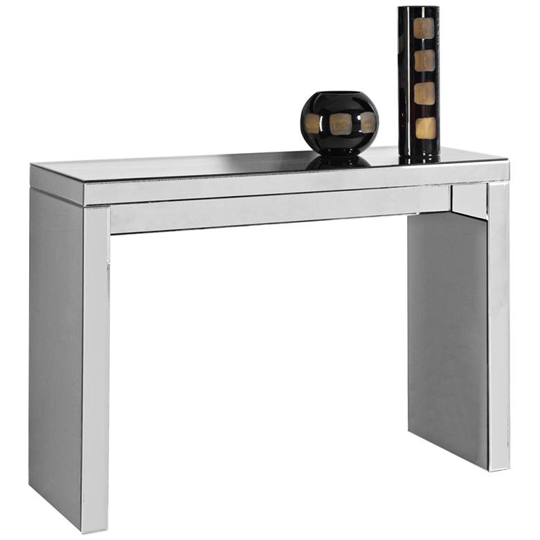 """Layla 42"""" Wide Mirrored Modern Console Table"""