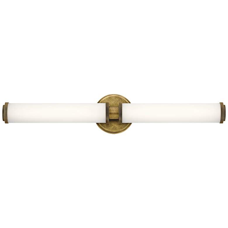 "Kichler Indeco 5"" High Natural Brass 2-LED Wall Sconce"