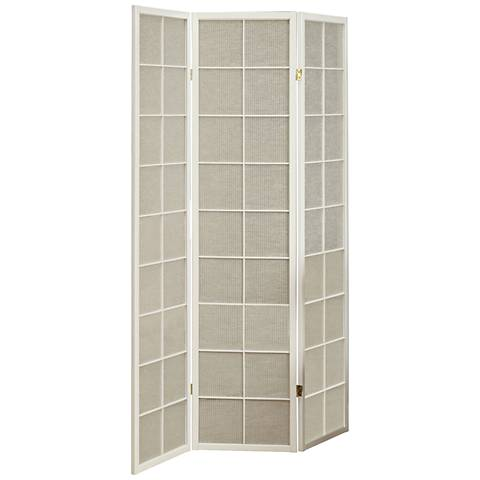 Kenna White Frame 3-Panel Folding Screen