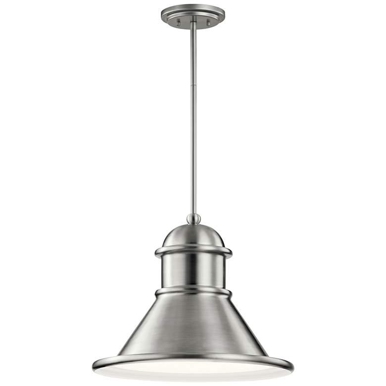 "Northland 14 1/4""H Brushed Aluminum Outdoor Hanging Light"