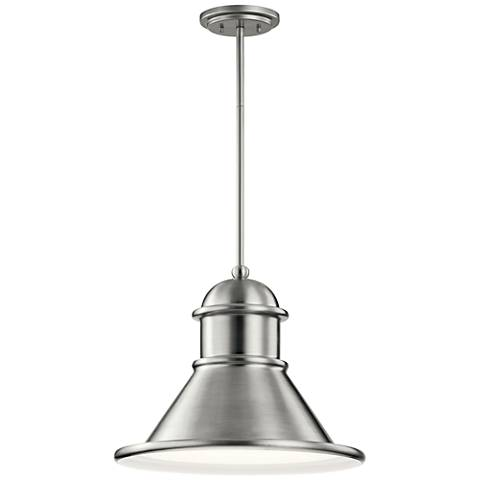 "Northland 14 1/4""H Brushed Aluminum Outdoor Hanging Light"