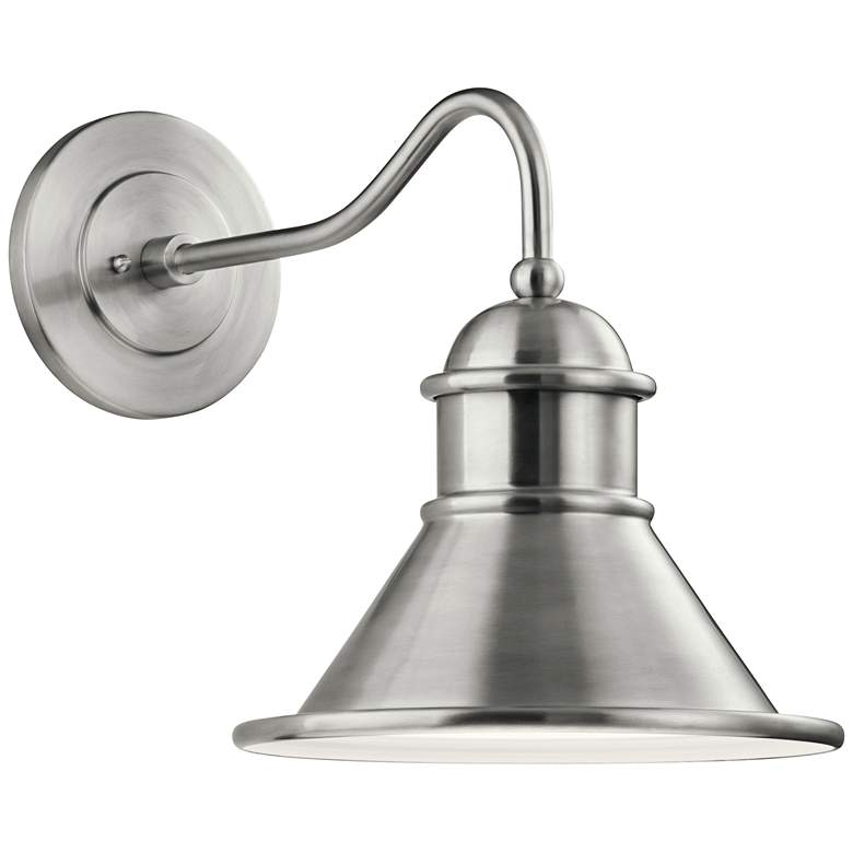 """Northland 16 3/4"""" High Brushed Aluminum Outdoor Wall Light"""