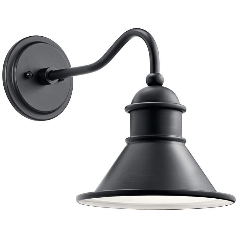 "Kichler Northland 12"" High Black Outdoor Wall Light"
