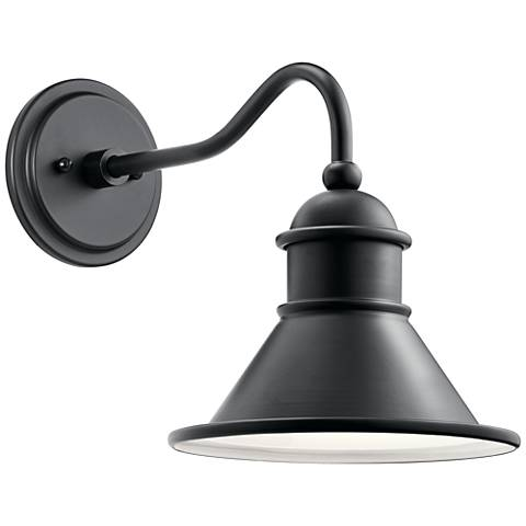"Kichler Northland 12"" High Black Outdoor Wall Light"