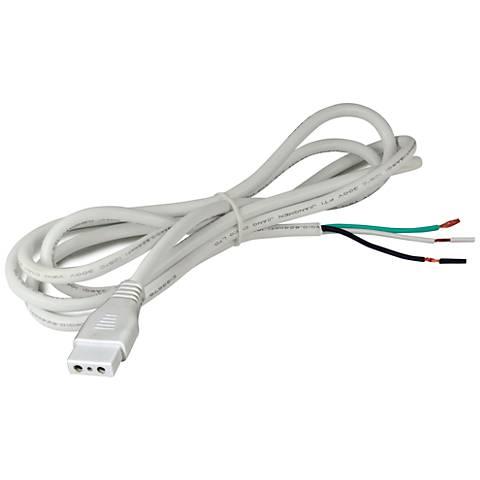 """Nora Bravo Frost 72"""" White 2-Wire Ground Hardwire Connector"""