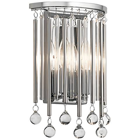 "Kichler Piper 12 1/4"" High Chrome 2-Light Wall Sconce"