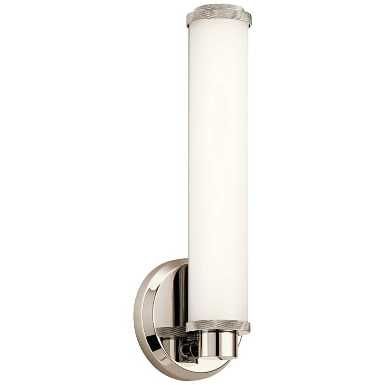 "Kichler Indeco 14 1/2"" High Polished Nickel LED Wall Sconce"