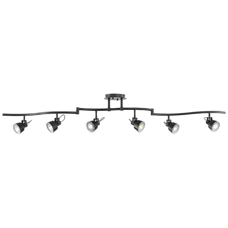 Pro Track 6-Light Bronze LED Track Fixture