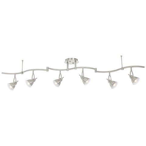 Swell 6-Light Brushed Nickel Bell LED Track Fixture